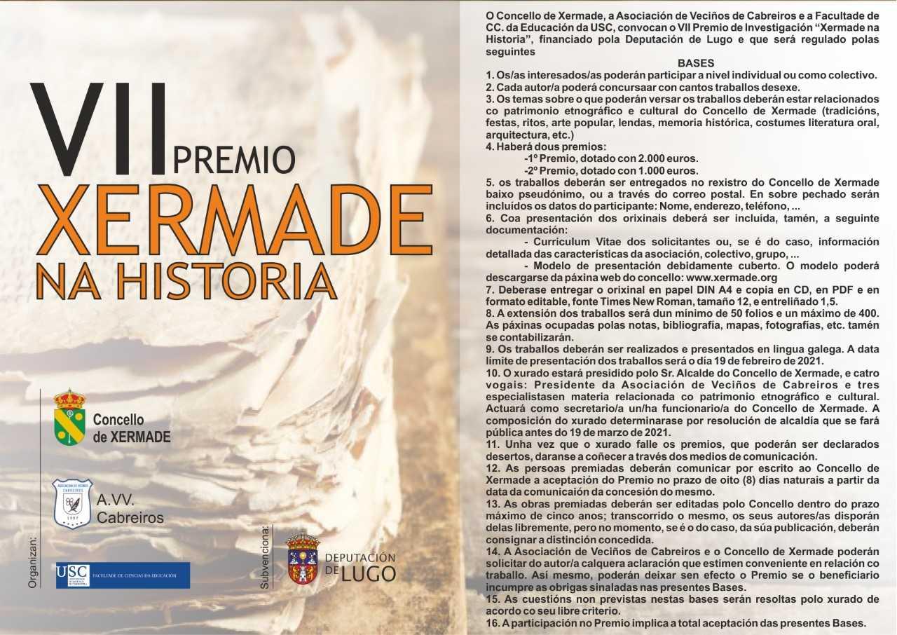 "Vll premio ""Xermade na historia"""