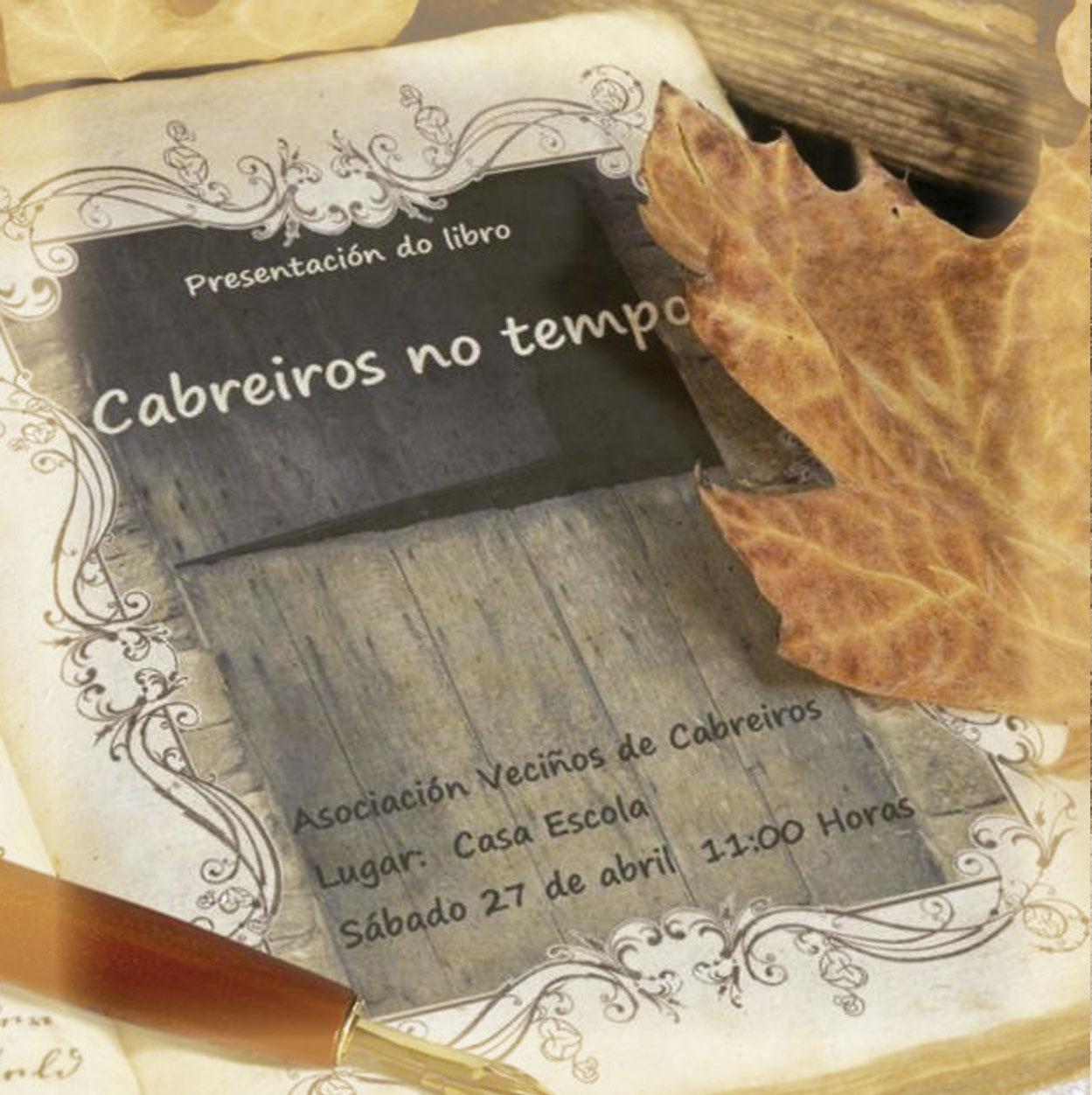 Sábado 27 presentación do libro, Cabreiros no tempo